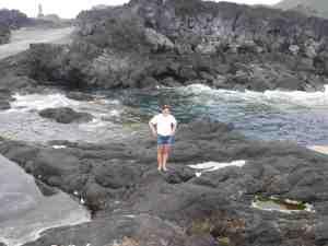 Jackie on the rocks
