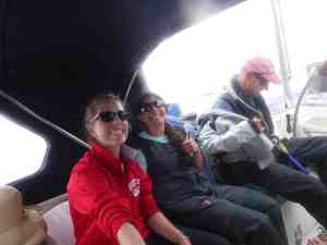 Cockpit selfie, the girls