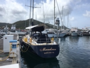 At the Dock in Marina Fort Louis, Marigot